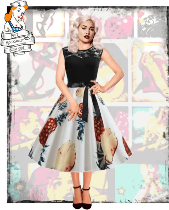 Beautiful Pineapple dress - Fifis Rockabilly Boutique