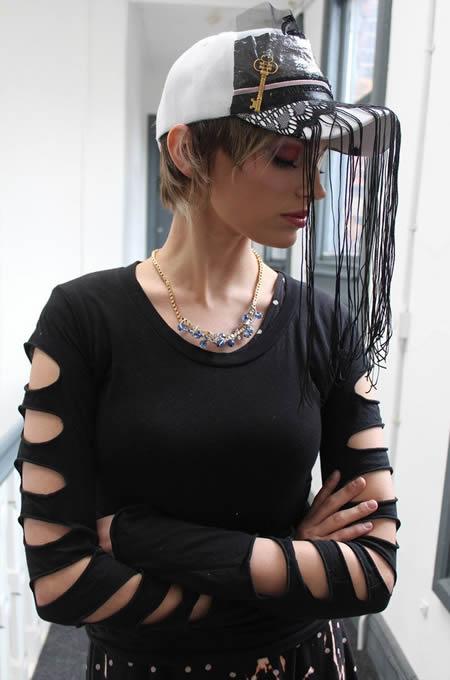 Black Cut Out Top Alternative Punk Grung Goth - PrettyDisturbia