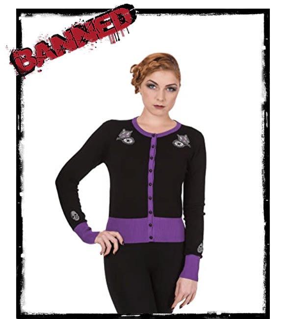 Nine Lives Cardigan by Banned - Fifis Rockabilly Boutique
