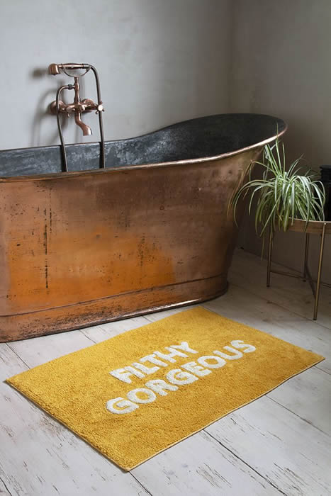 rockettstgeorge gold filthy gorgeous bath mat lifestyle