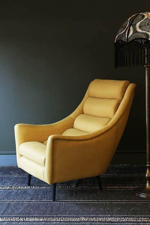rockettstgeorge mustard cosy arm chair lifestyle