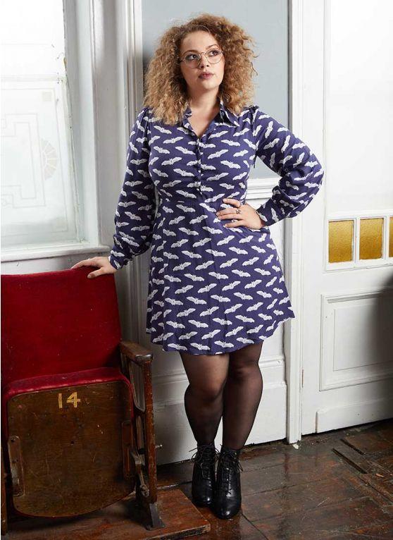 Carrie Hope Fletcher X Joanie - Purdita Bat Print Shirt Dress - Joanie